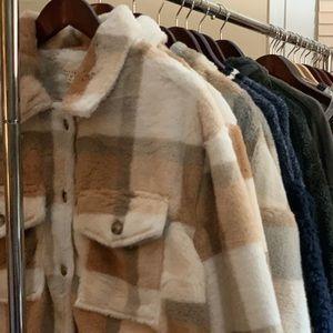 Autumn Plaid Fur Jacket